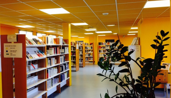 Chartres - rayonnages de la bibliothèque