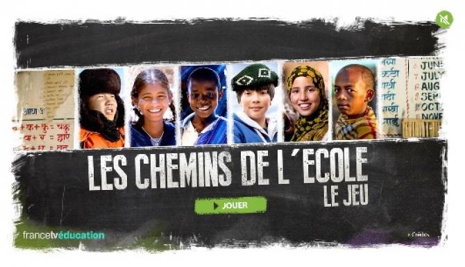 Page d'accueil du jeu : photos d'enfants du monde