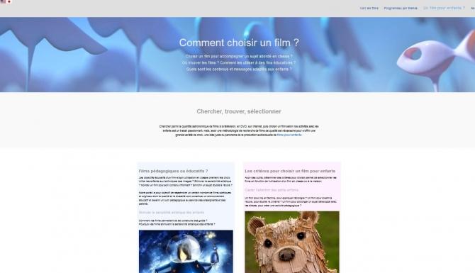 Pages de conseils pédagogiques pour la recherche de films pour enfants.