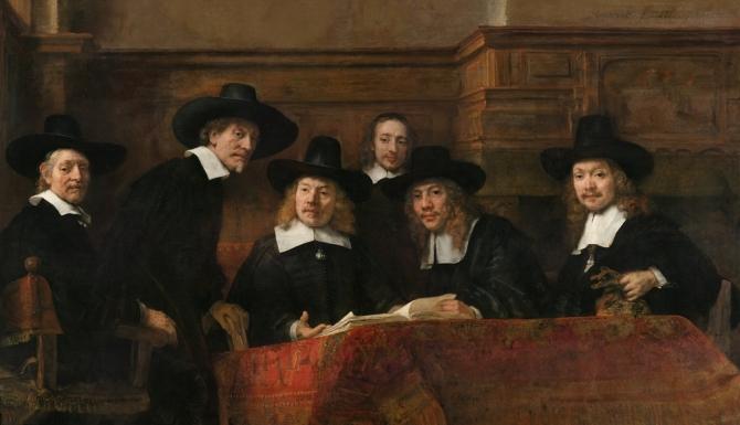 De Staalmeesters, Rembrandt van Rijn, 1662