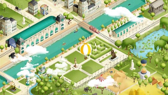 Carte illustrée des alentours du Musée d'Orsay et du Musée de l'Orangerie.