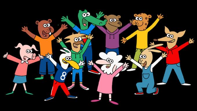 Illustration des personnages de la série.