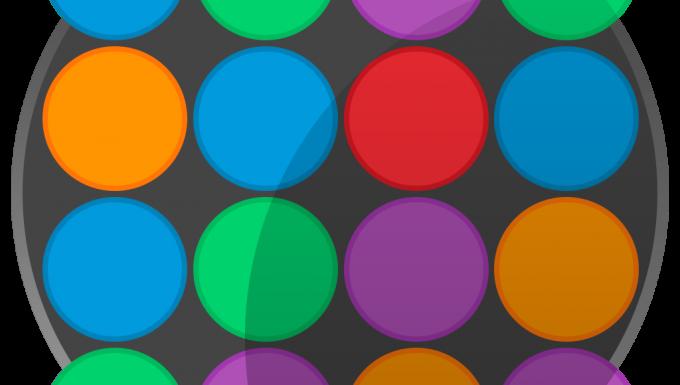 Grille de ronds de couleurs différentes