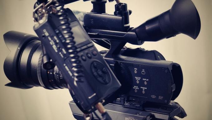Une caméra en gros plan.