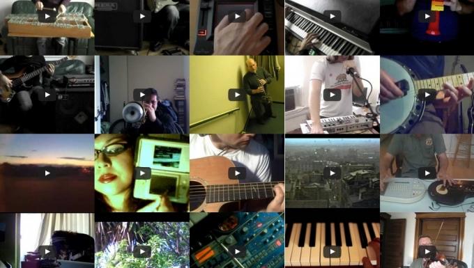 MosaÎque de vidéos musicales.