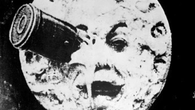 """Capture du célèbre film de Méliès """"Voyage sur la Lune"""""""