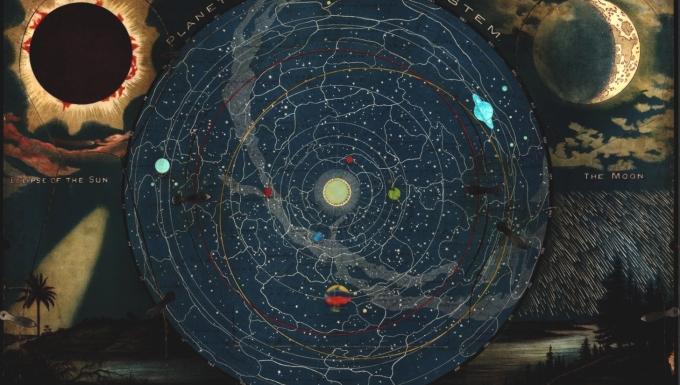 Carte du système solaire.
