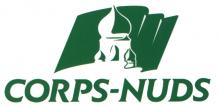 Logo de la ville représentant dans un drapeau vert un dessin du clocher de la ville