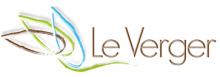 Logo très stylisée de la ville, peu figuratif. De couleurs bleu, vert et marron