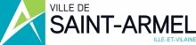 Logo de la ville. À gauche du nom se trouve une lettre A stylisée, entourée de bleu et vert