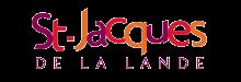logo de la ville constitué des lettre du nom en couleurs violettes, rouges et oranges