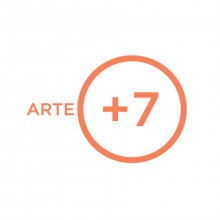 Logo Arteplus7 : lettres orange sur fond blanc
