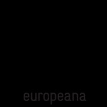 Logo Europeana : lettres noires stylisées sur fond blanc