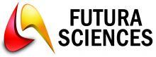 Logo Futura Sciences : Formes rouges et jaunes avec lettres noires sur fond blanc
