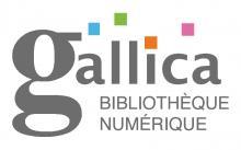 Logo Gallica : lettres grises et carrés de couleur sur fond blanc