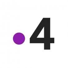 Logo de la chaîne constitué d'un point violet suivi du chiffre 4 en noir