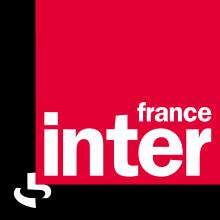 Logo de France Inter - Un carré rouge avec le terme France Inter par dessus un carré noir