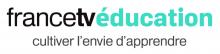 Logo Francetvéducation : Lettres stylisées noires et vertes sur fond blanc