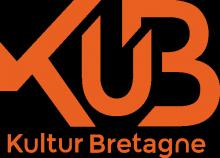 Logo KuB : Lettres tylisées orange sur fond blanc.