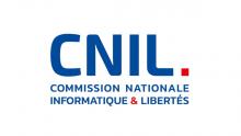 Logo CNIL : lettres stylisées bleues sur fond blanc.