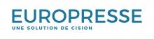 """Logo de la ressource Europresse de couleur bleue. Sous le mot """"europresse"""" on peut lire """"une solution cision"""""""