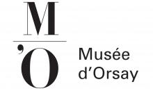 Logo Musée d'Orsay : lettres stylisées noires sur fond blanc