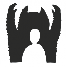Illustration d'une silhouette blanche surmontée d'une ombre noire menaçante en forme de monstre.