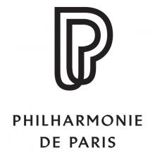 Logo Philarmonie de Paris : lettres stylisées en noir sur fond blanc
