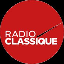 Logo Radio classique : lettres stylisées blanches sur un cercle de couleur rouge