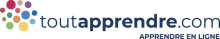 """Logo de ToutApprendre. De multiples points de couleurs et la mention """"ToutApprendre.com : apprendre en ligne"""""""