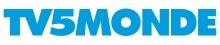 Logo TV5 Monde : Lettres stylisées bleu sur fond blanc.