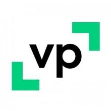 Logo Vie-publique.fr : deux lettres de couleur noire sur fond blanc entourées de deux crochets verts.