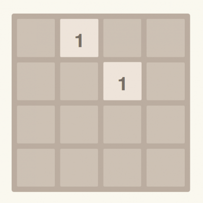 écran du jeu 1957 consistant en un grille de 4x4 cases, certaines comprenant des chiffres