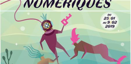 Affiche officielle du Festival. Très colorée, l'affiche présente sous forme de dessin un scaphandrier tenant une clé (logo du festival) et assailli par deux sirènes. Au dessus, un coucher de soleil illumine l'océan.
