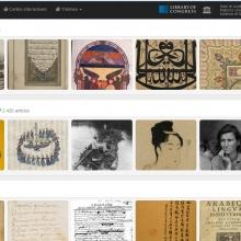 Page de recherche par thème à l'aide de vignettes