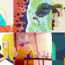 Montage d'extraits de courts-métrages d'animation.