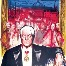 """Extrait de l'affiche du film """"Les grandes familles"""" de Denys de La Patellière."""