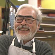 Photographie de Hayao Miyazaki.