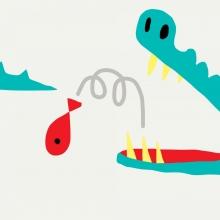 Vignette officielle du festival junior avec une illustration de crocodile