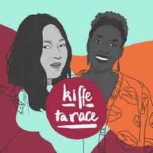 Illustration stylisée des deux animatrices du podcast audio.