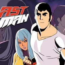 Affiche de la saison 1 de LastMan. On y voit un montage des principaux personnages et le logo de la série