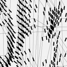 Image extraite du projet d'art numérique (noir et blanc).